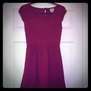 Red pattern dress